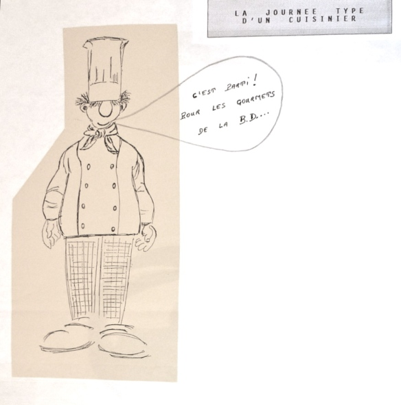 Rapport de stage la journ e type d un cuisinier l tonnante bande dessin e d alexandre for Cuisinier un bras